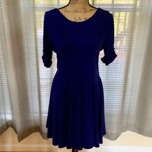 Express Navy Blue Half Sleeve Dress, Sz. 12